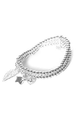 Picture of Envy Jewellery Triple Layered Silver Charm Bracelet