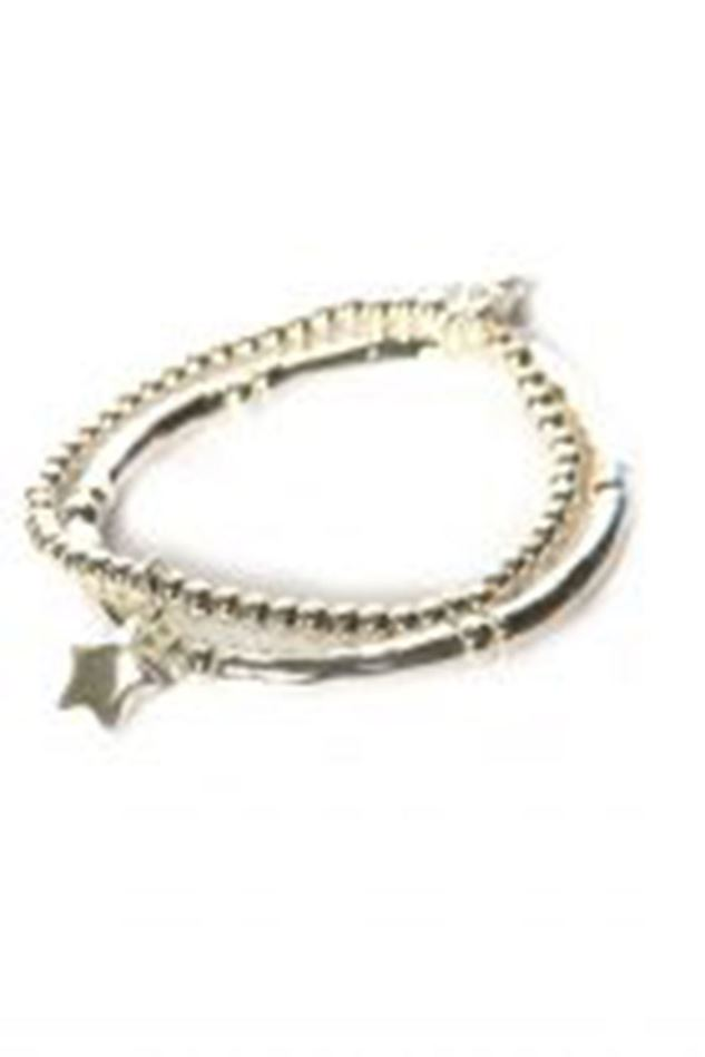 Picture of Envy Jewellery Double Layered Silver Bracelet