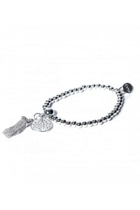 Picture of Envy Jewellery Silver Beaded Tassell Bracelet