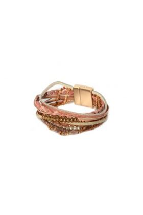 Picture of Envy Jewellery Multi Strand Pink Bracelet