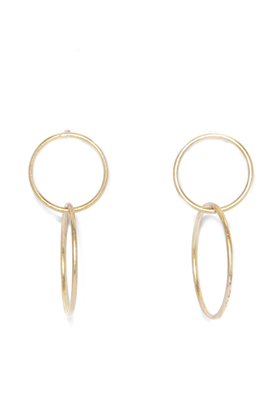 Picture of Envy Jewellery Double Linked Hoops