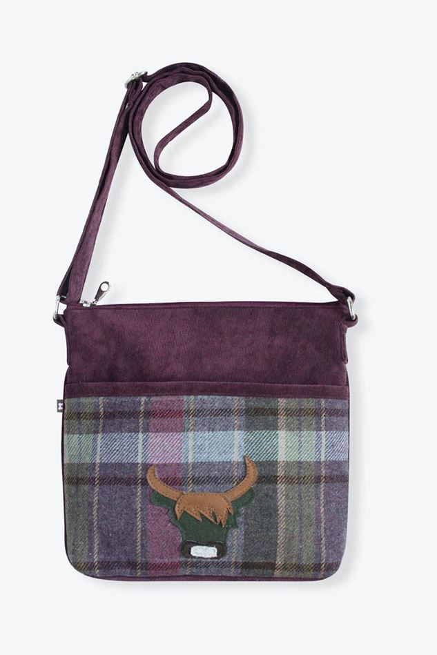 Picture of Earth Squared Heather Cow Tweed Ameila Bag