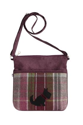 Picture of Earth Squared Plum Dog Tweed Amelia Bag