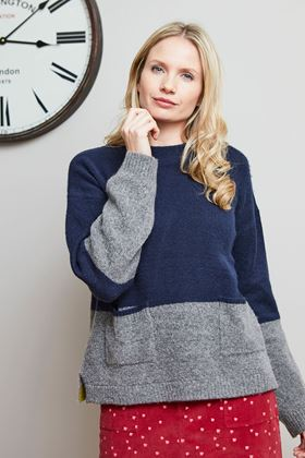 Picture of Lily & Me Hygge Colour Block Jumper
