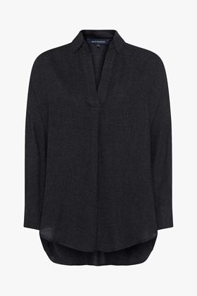 Picture of French Connection Viro Melange Popover Shirt