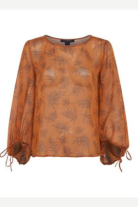 Picture of French Connection Esma Crinkle Long Sleeve Top