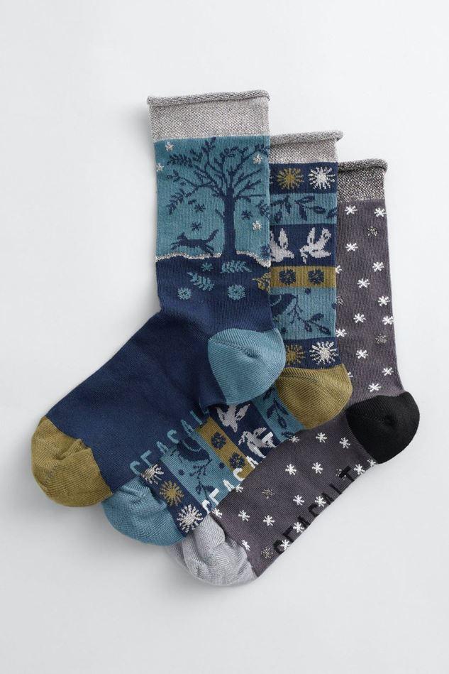 Picture of Seasalt Snowy Scenes Socks Box Of 3