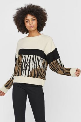 Picture of Vero Moda Leon Printed Knitted Pullover