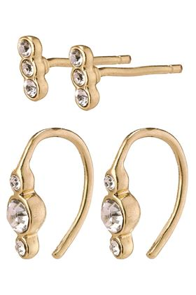 Picture of Pilgrim Radiance Gold Plated Crystal Earrings