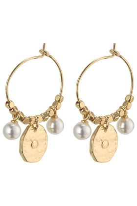 Picture of Pilgrim Affection Gold Plated White Earrings