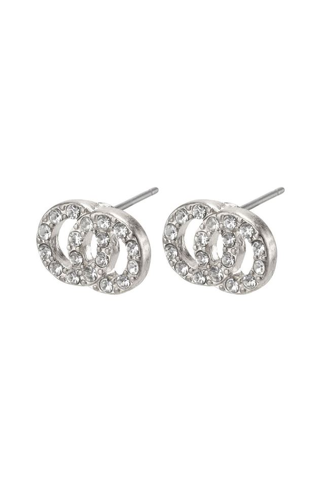 Picture of Pilgrim Victoria Silver Plated Crystal Earrings
