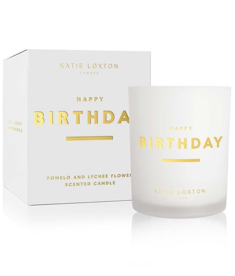Picture of Katie Loxton Sentiment Candle - Happy Birthday