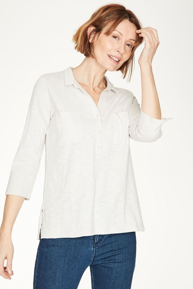 Picture of Thought Grove Organic Cotton Patch Pocket Half Placket Shirt