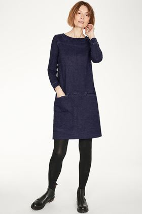 Picture of Thought Pelly Organic Cotton Denim Loopback Tunic Dress