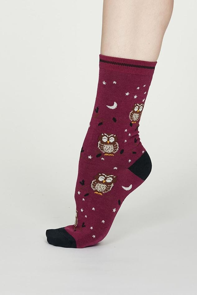 Picture of Thought Night Owl Bamboo Socks