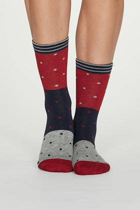 Picture of Thought Mercy Bamboo Spot Colour Block Socks