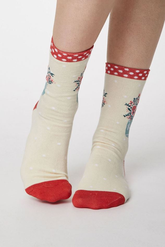 Picture of Thought Flora Bamboo Flower Socks