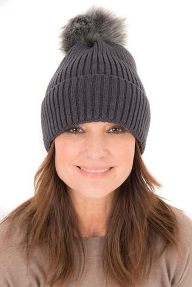 Picture of Francetti Bond Ribbed Pom Pom Hat