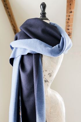 Picture of Francetti Bond Myla Navy Two Tone Wrap Scarf