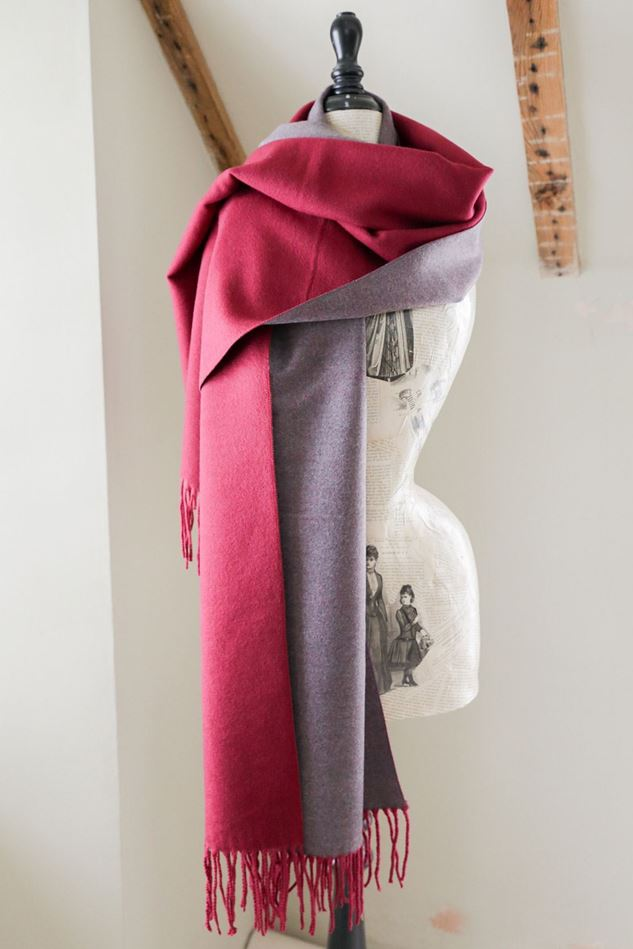 Picture of Francetti Bond Myla  Burgundy Two Tone Wrap Scarf