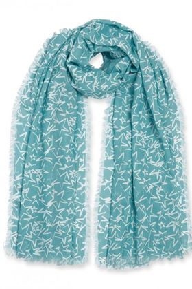 Picture of Katie Loxton Sentiment Scarf | Wish | Aqua Blue