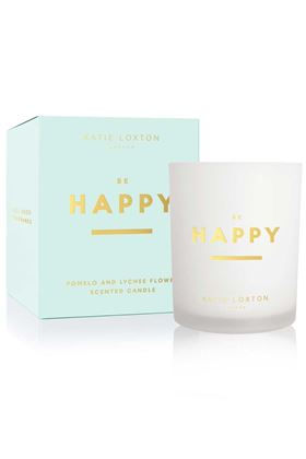 Picture of Katie Loxton Sentiment Candle - Be Happy