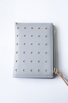 Picture of Pom Grey Faux Leather & Rose Gold Star Purse