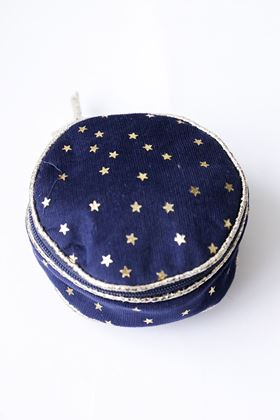 Picture of Lua Velvet Star Round Jewellery Purse