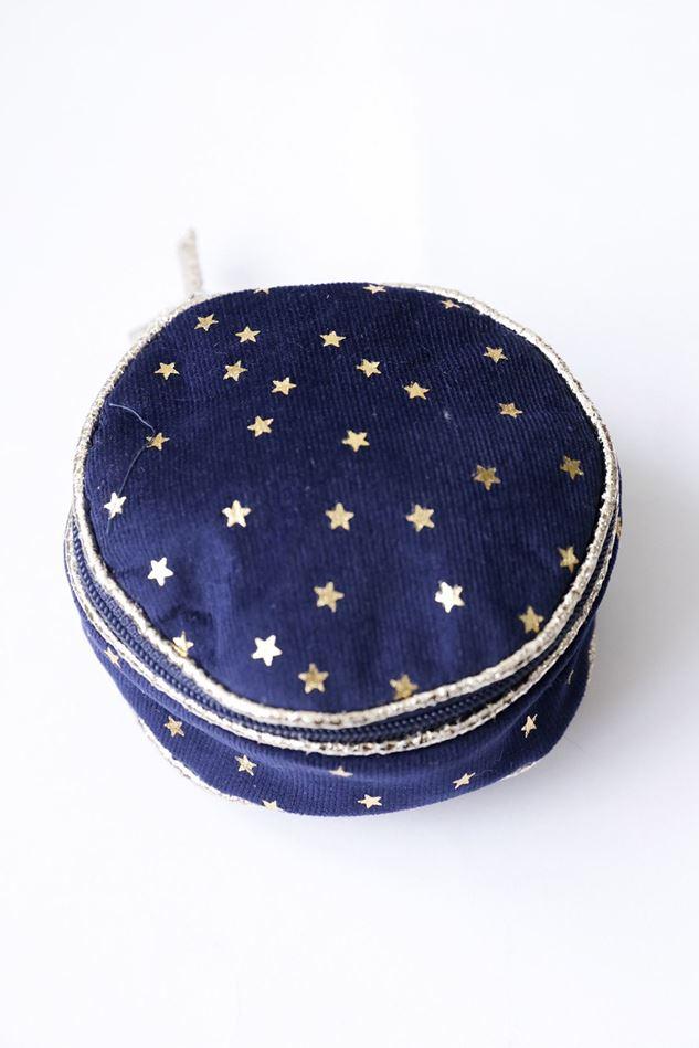 Picture of Lua Velvet Star Round Jewellery Purse