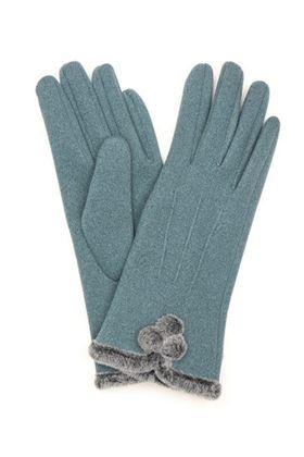 Picture of Pom Faux Fur Pom Pom Gloves