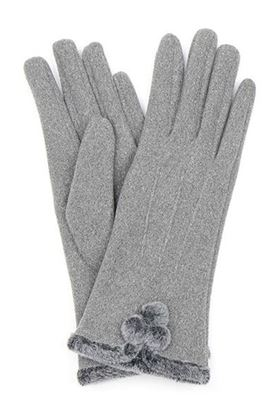 Picture of Pom Faux Fur Pom Pom Gloves