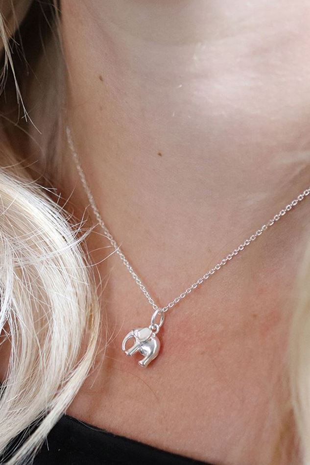 Picture of Pom Sterling Silver Elephant Necklace