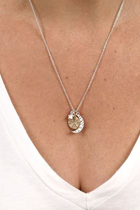 Picture of Pom Silver Plated Moon Star and Planet Necklace