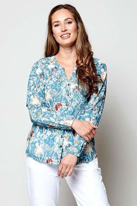 Picture of Nomads Hepworth Print Voile Shirt
