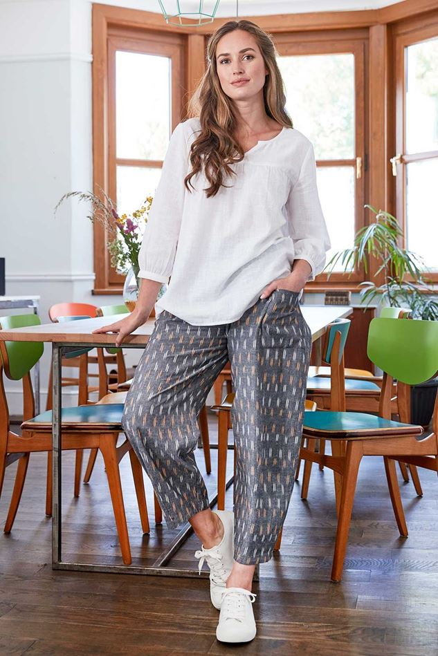Picture of Nomads Ikat Relaxed Crop Trouser