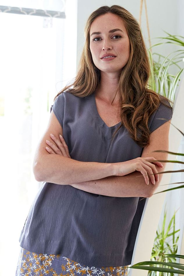 Picture of Nomads Plain Crinkle Viscose Top