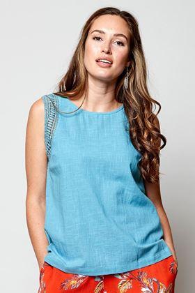Picture of Nomads Plain Crochet Trim Vest