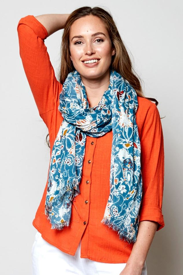Picture of Nomads Hepworth Print Scarf
