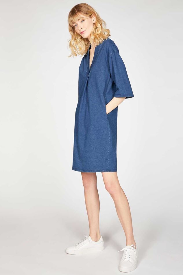 Picture of Thought Skylar Loopback Organic Cotton Denim Tunic Dress