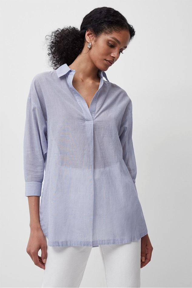 Picture of French Connection Timmie Stripe Pop Over Shirt