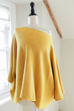 Picture of Inis Collection Mustard Slouchy Short Jumper