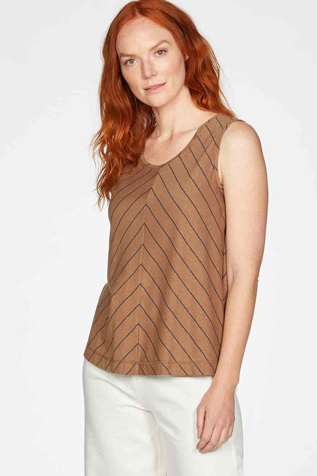 Picture of Thought Cecilia Hemp Organic Cotton Striped Jersey Vest