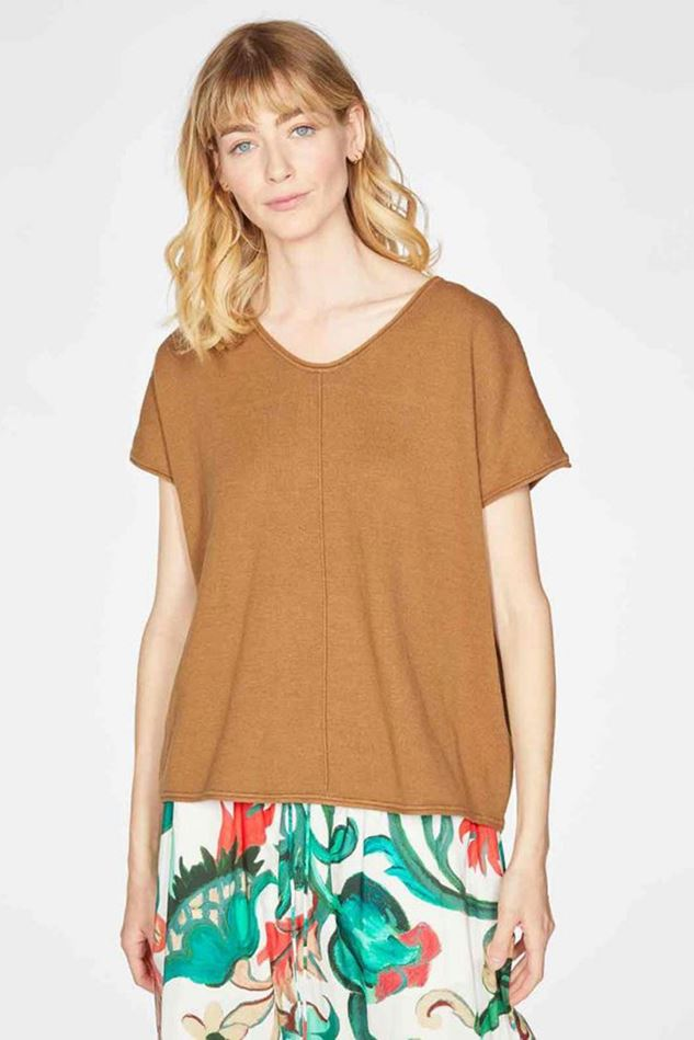 Picture of Thought Faye V-Neck Hemp Organic Cotton Knit Jumper