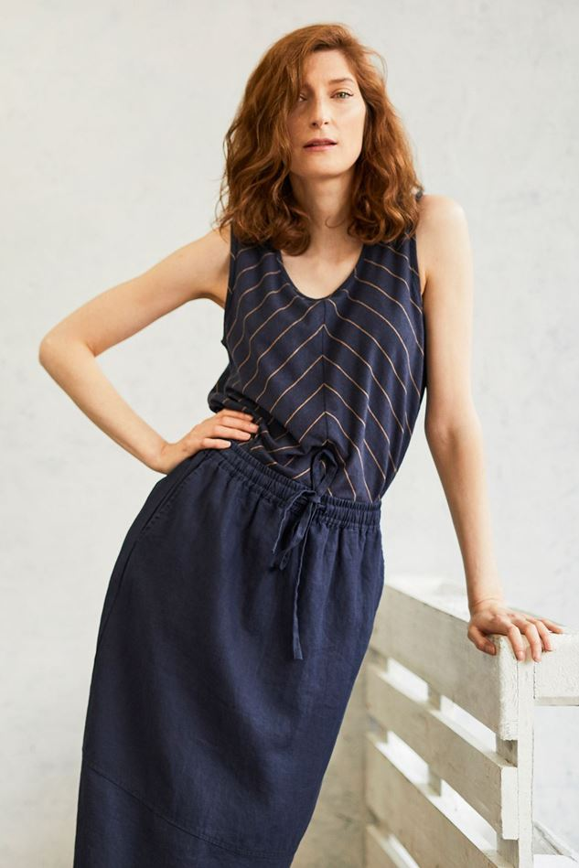 Picture of Thought Erin Woven Hemp Straight Fit Skirt