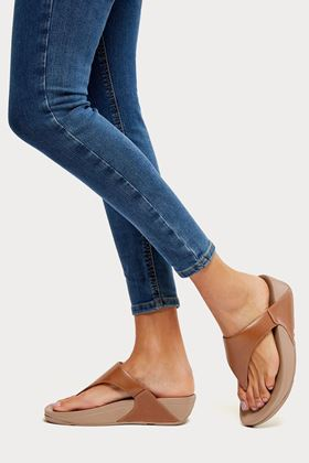 Picture of FitFlop Lulu Leather Toe-Post Sandals