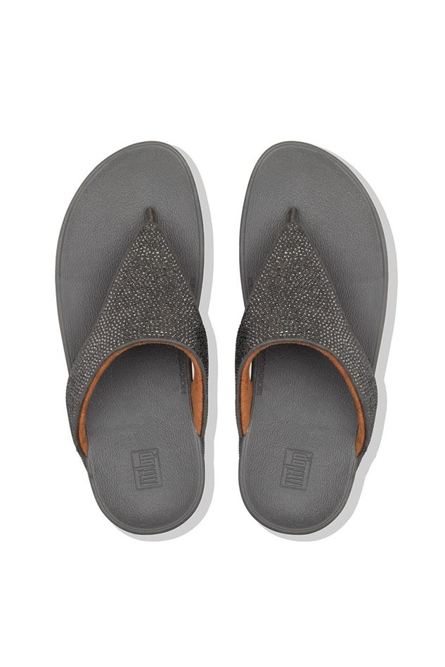 Picture of FitFlop Lottie Shimmercrystal Toe-Post Sandals