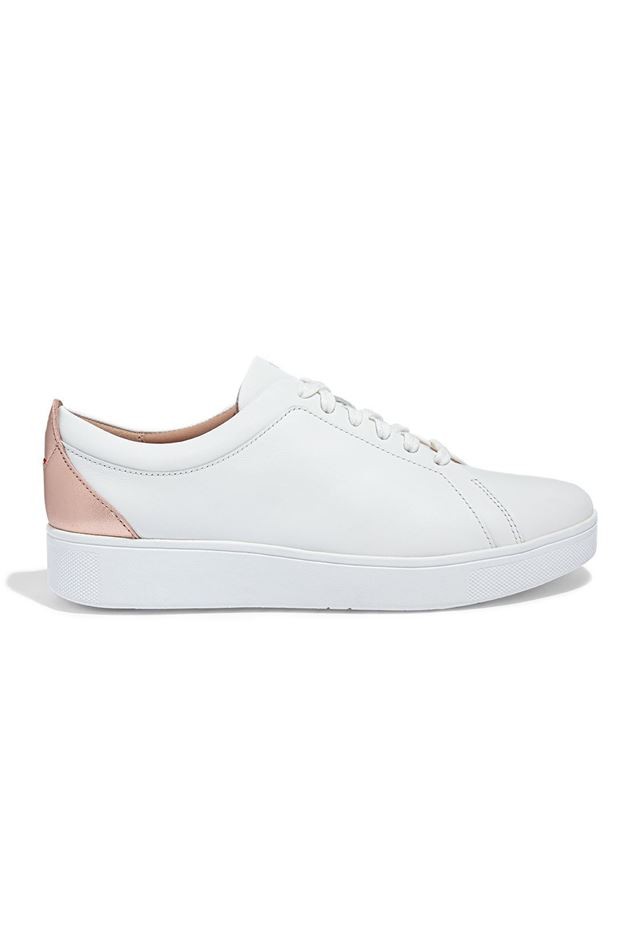 Picture of FitFlop Rally Metallic-Backtab Leather Trainers