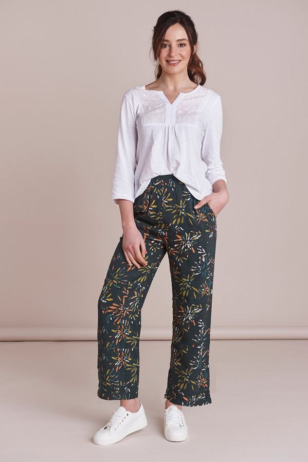 Picture of Mistral Spikey Floral Palazzo Trousers