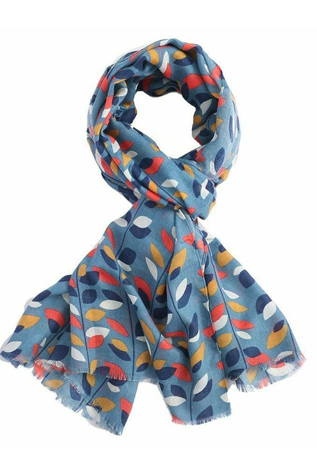 Picture of Lua Colour Leaves Scarf
