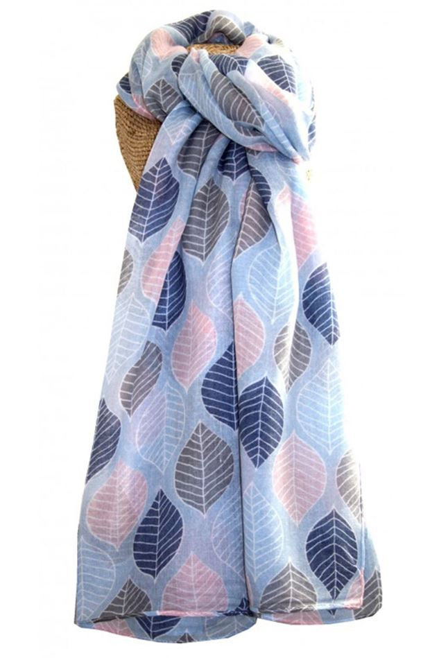 Picture of Lua Large Leaves Scarf